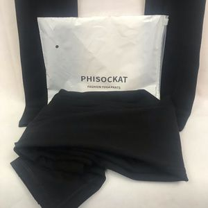 phisockat Pants - Phisockat fashion Yoga Pants Black Size M  2-pairs